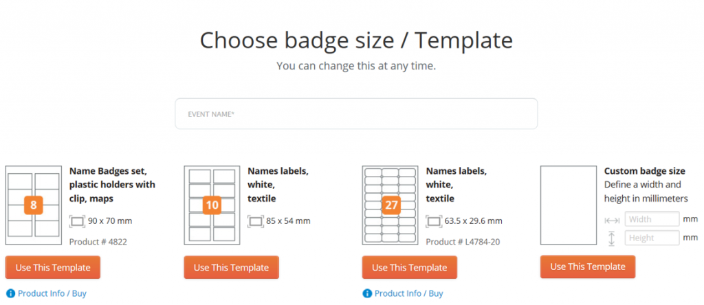 Start Designing Your Badge Beside Attendee Data You Can Insert Background Image Logo Color And Qr Code